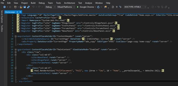 Portals Web Page Structure – ReadyXRM